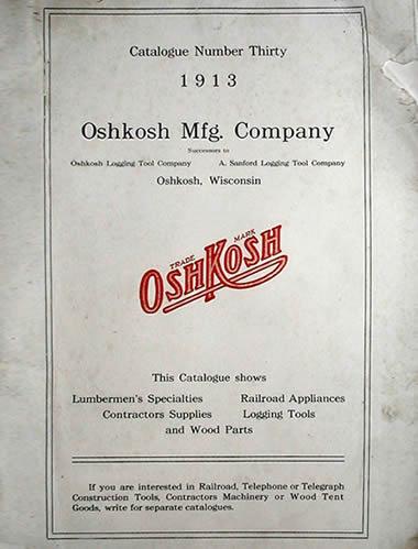 Oshkosh Mfg Co catalog 1913